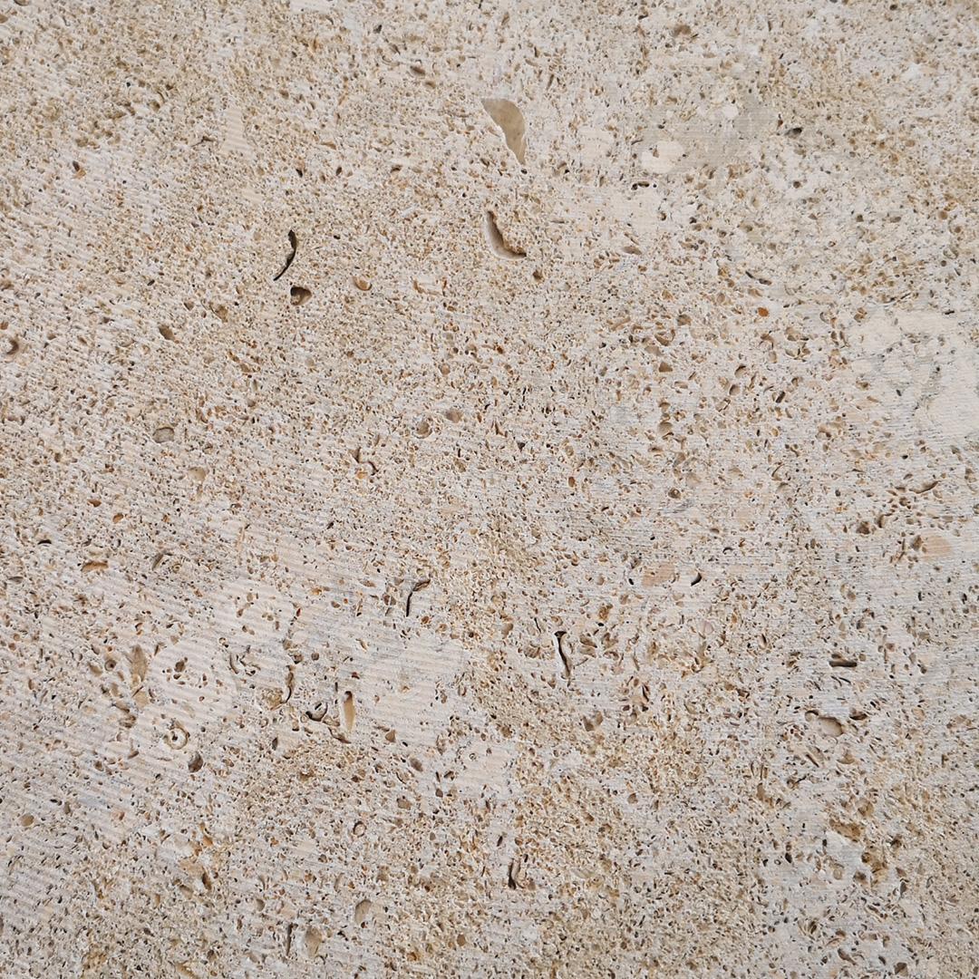 Coral stone saw cut finish