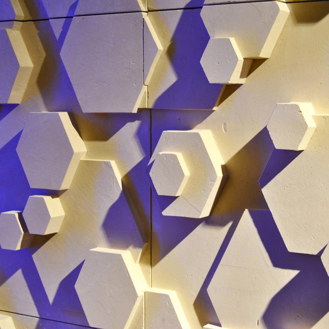 Hexagon stone finish